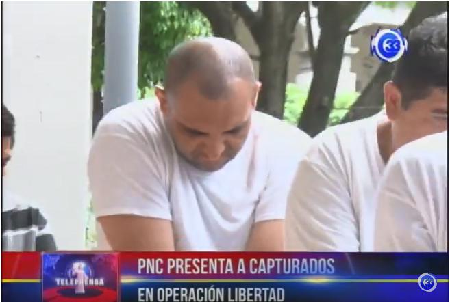 PNC presenta a capturados en operación Libertad