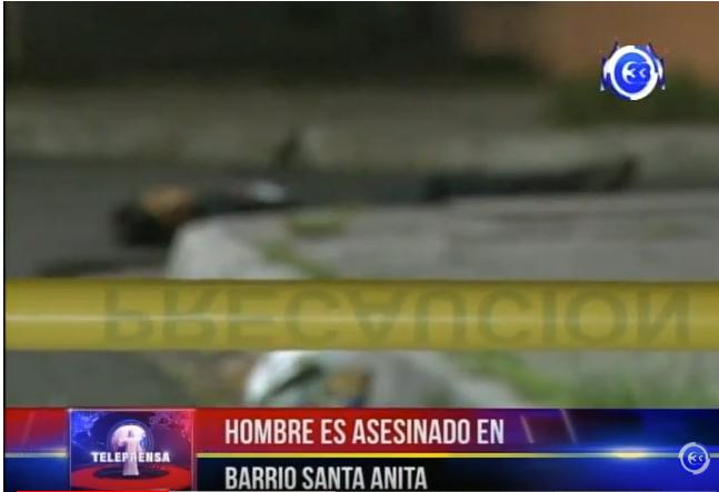 Hombre es asesinado en el barrio Santa Anita.