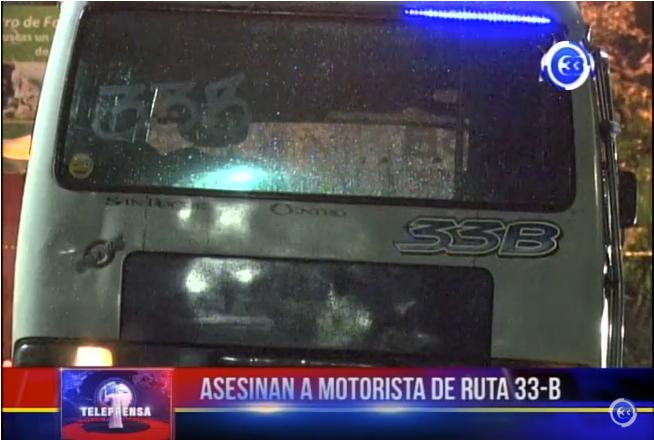 Asesinan a motorista de ruta 33-b