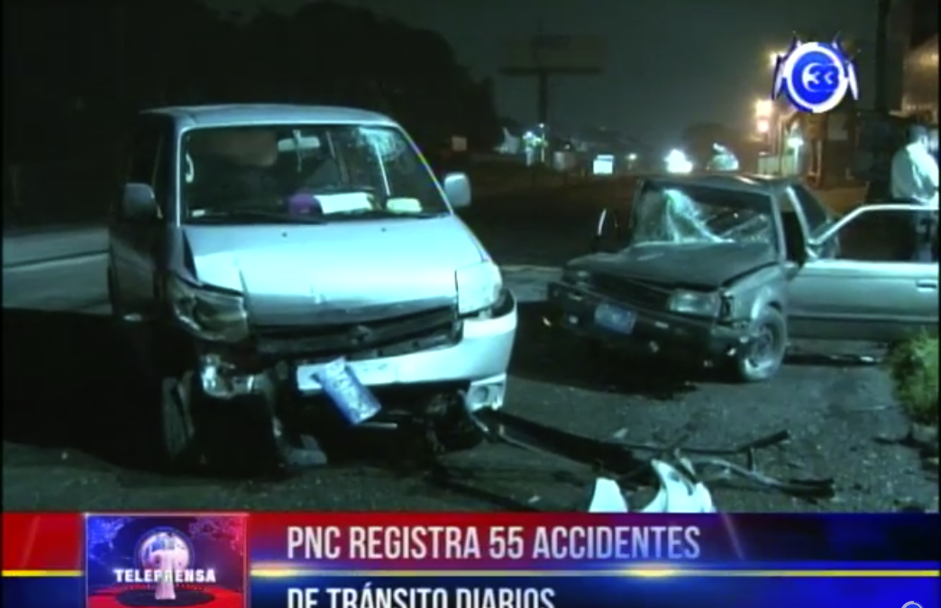 PNC registra 55  accidentes de tránsito diarios