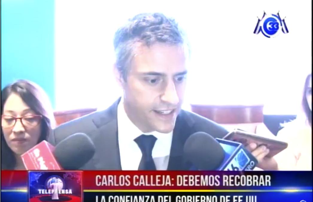 """Carlos Calleja: """"debemos recobrar la confianza del gobierno de EE.UU."""