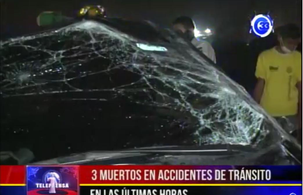 3 muertos en accidentes de tránsito en últimas horas