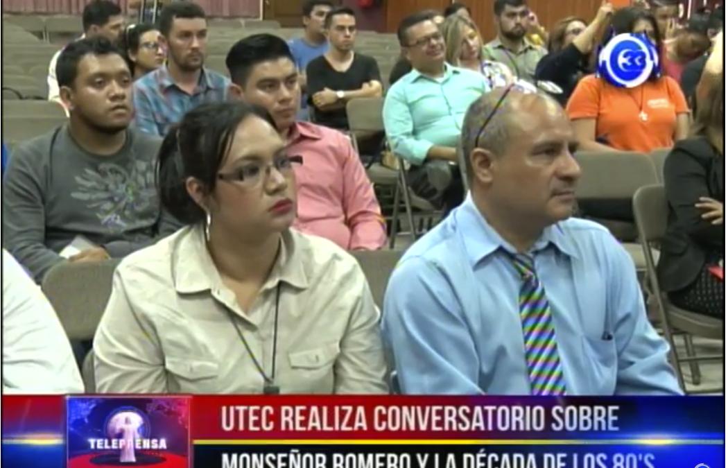 UTEC realiza conversatorio sobre monseñor romero y la década de los 80