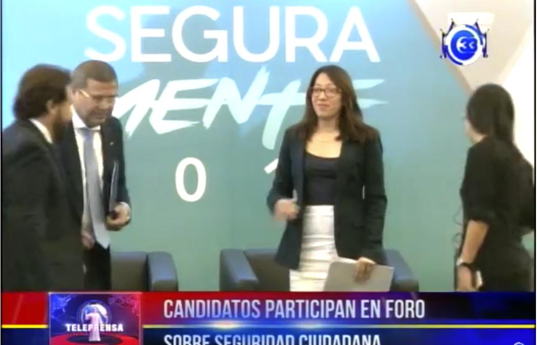 Candidatos presidenciales participan en foro sobre seguridad ciudadana