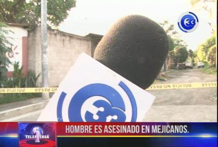 Hombre es asesinado en Mejicanos