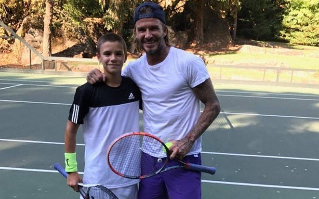 Romeo Beckham deja el fútbol y para jugar Tenis