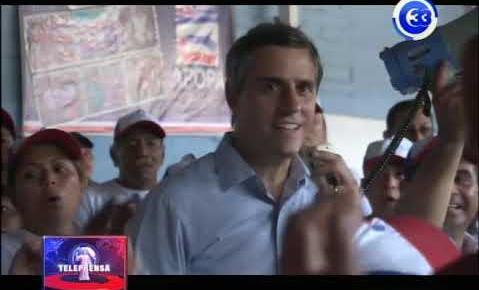 Candidato Carlos Calleja visita a comerciantes de apopa