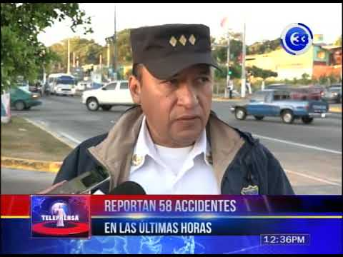 Reportan 58 accidentes en últimas horas