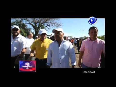 Supervisan trabajos en carretera San Julián