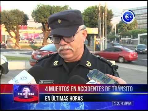 4 muertos en accidentes de tránsito en últimas horas