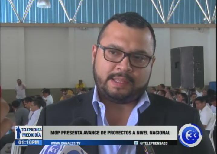 MOP presenta avance de proyectos a nivel nacional