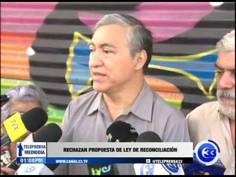 Rechazan propuesta de ley de reconciliación