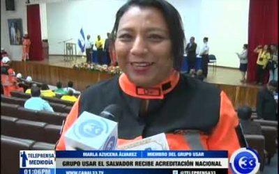 Grupo USAR El Salvador recibe acreditación nacional