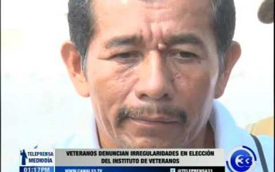 Excombatientes denuncian irregularidades en elección del Instituto de Veteranos