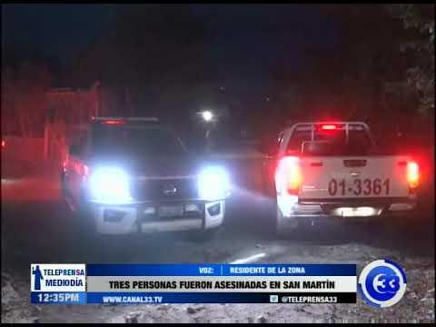 Tres personas fueron asesinas en San Martín