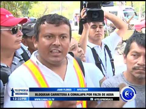 Bloquean carretera Comalapa por falta de agua