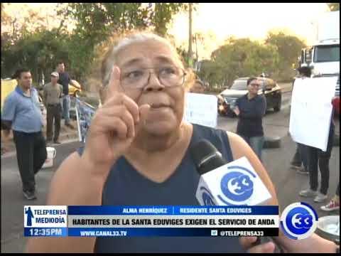Habitantes de la colonia Santa Eduviges exigen el servicio de ANDA