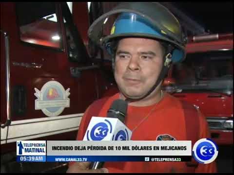 Incendio deja pérdidas de $10 mil en Mejicanos