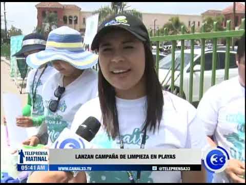 Lanzan campaña de limpieza en playas