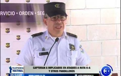 Capturan a implicados en ataques a ruta 6-A y otros pandilleros