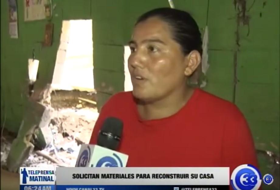 Solicitan materiales para reconstruir su casa