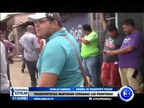 Transportistas mantienen cerradas las fronteras
