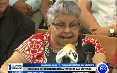 Piden ley de reconciliación a favor de las víctimas
