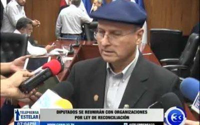 Diputados se reunirán con organizaciones por ley de reconciliación