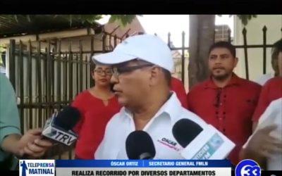 Nuevo secretario del FMLN realiza recorrido por diversos departamentos