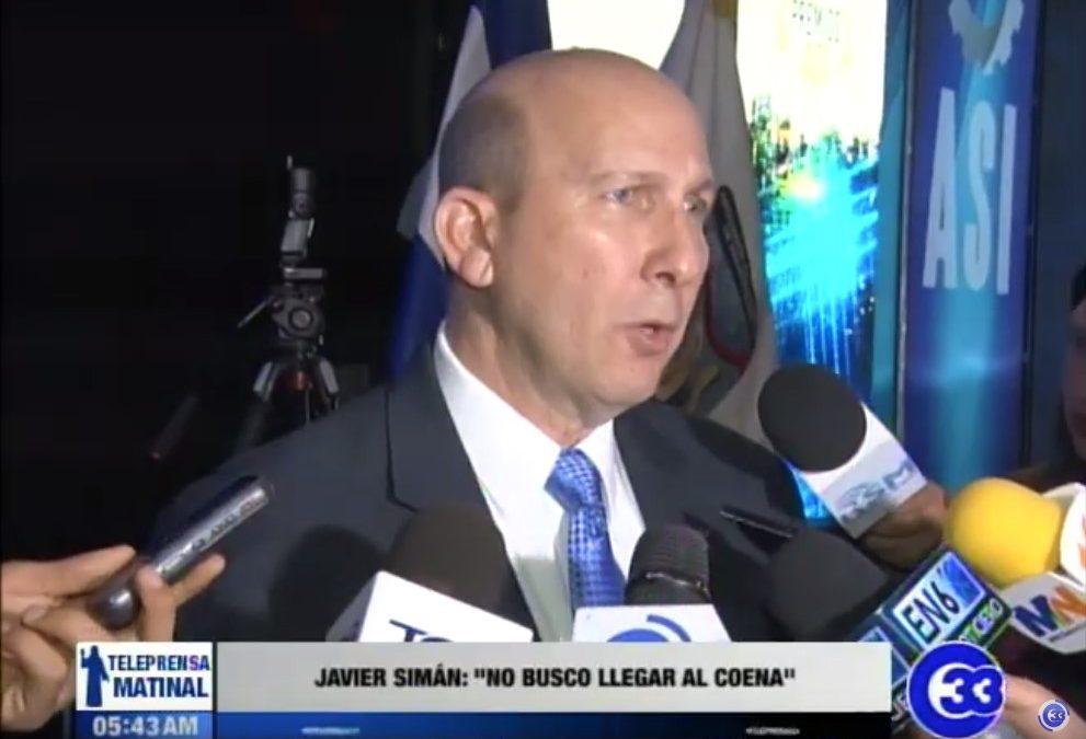 """Javier Simán: """"No busco llegar al COENA"""""""
