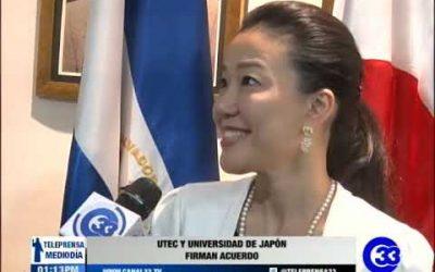 UTEC y Universidad de Japón firman acuerdo.