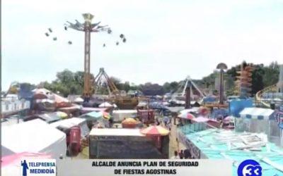 Alcalde anuncia plan de seguridad de fiestas agostinas.