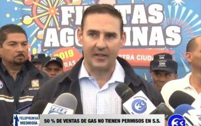 50% de ventas de gas no tienen permisos en San Salvador.