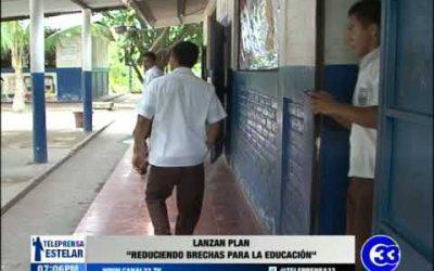 """Lanzan plan """"reduciendo brechas para la educación"""""""