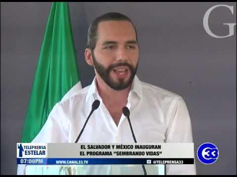 """El Salvador y México inauguran el programa """"sembrando vidas"""""""