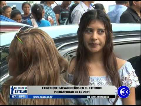 Exigen que salvadoreños en el exterior puedan votar en el 2021